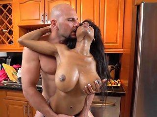 Big Tits Ebony Hotties Share A Big Black Cock